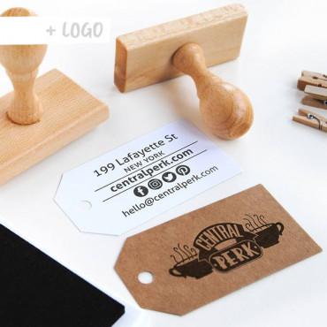 Con un sello con tu logo podrás crear Tarjetas de visita DIY