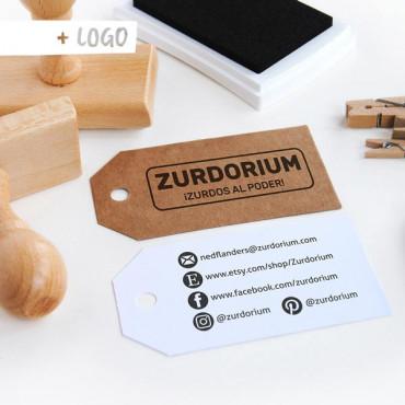 Con un sello con tu logo podrás crearte tarjetas de visita DIY