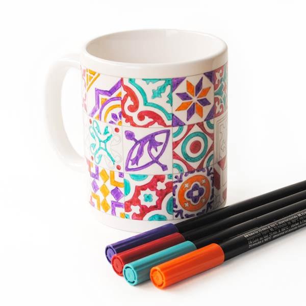 """Taza para pintar """"Baldosas Hidráulicas"""""""