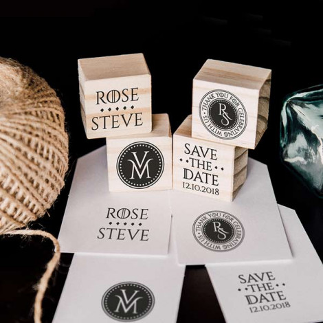 """Pack de 4 sellos de boda """"Moneda Medieval"""""""