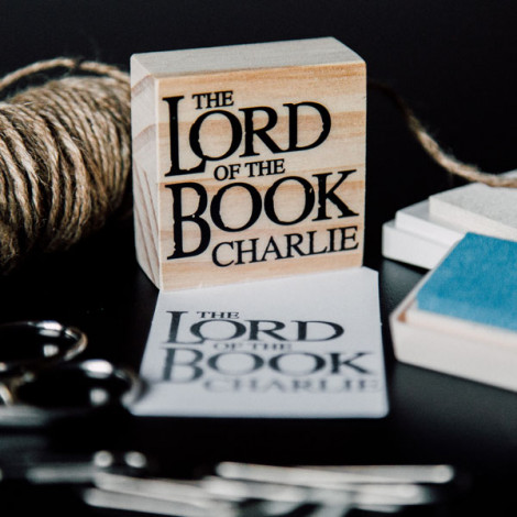 "Sello Ex Libris ""The lord of the book"""