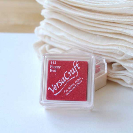 Mini tinta VersaCraft Poppy Red (papel, tela y madera)