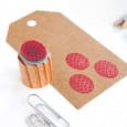 Tinta roja VersaCraft para estampar sobre papel no satinado
