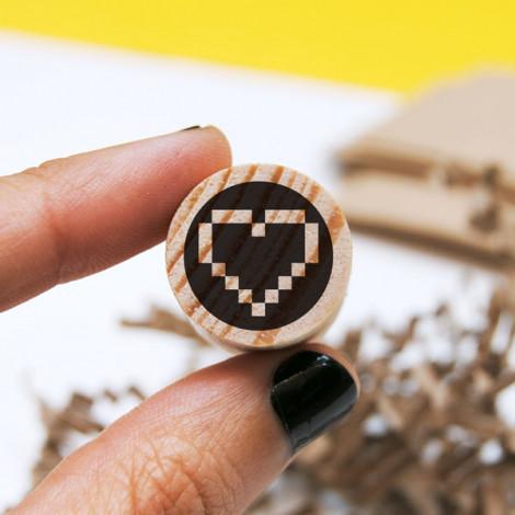 Mini sello Corazón Pixel