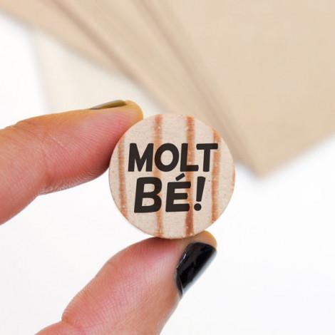 Mini sello Molt bé! en (catalán)