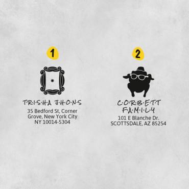Elige el diseño de sello de dirección que más te guste