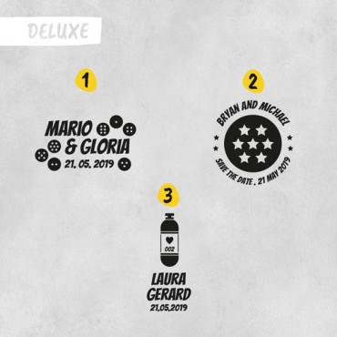 Si añades el sello Deluxe en las opciones de producto, elige el modelo que quieras.