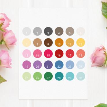 Escribe el número de los colores en el apartado PERSONALIZACIÓN.