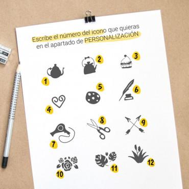 Escoge el icono que quieras para decorar tu logotipo