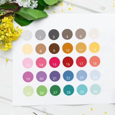 Escribe el número de color/es en el apartado PERSONALIZACIÓN