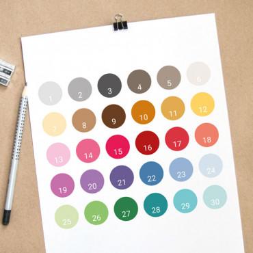 Escribe el número de color/es en el apartado de PERSONALIZACIÓN