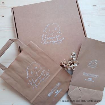 Con un solo sello personalizado puedes estampar las cajas y bolsas de tus productos