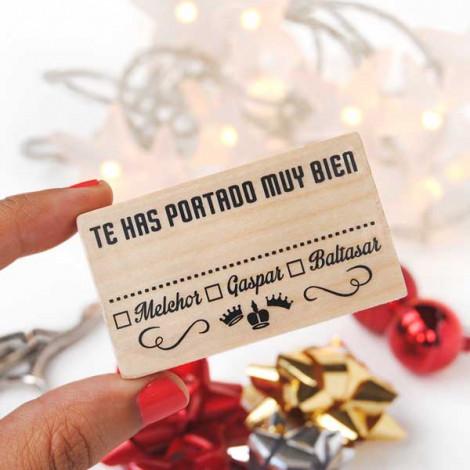 Sello navidad Reyes Magos - Te has portado muy bien