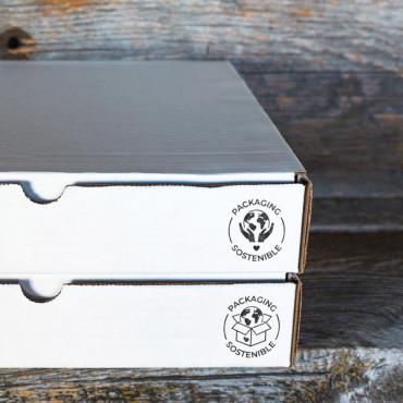 Sello para packaging sostenible disponible en otros diseños e idiomas en nuestra web.