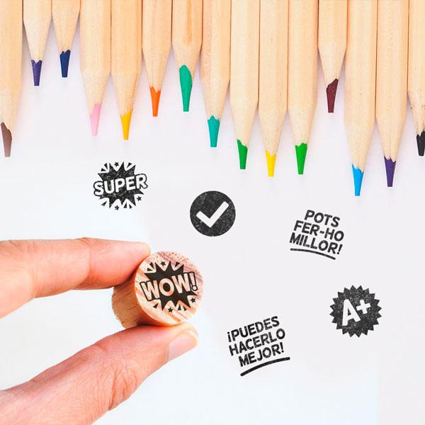 Mini sellos para profesores, un regalo original para profes de primaria :)
