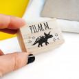 Sello para marcar ropa triceratops