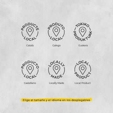 Elige el tamaño del sello y el idioma en el desplegable del precio