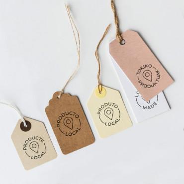 Sello Producto Local en varios idiomas disponibles