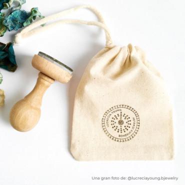 Bolsa de algodón personalizada con sello con logotipo
