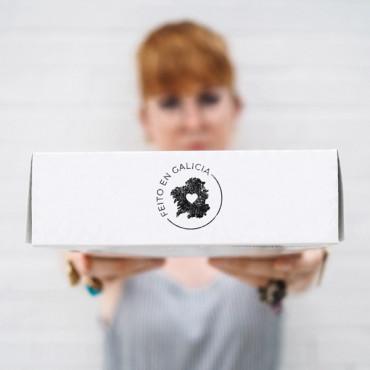 Sello para packaging en gallego feito en Galicia