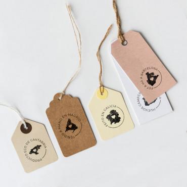 Personaliza tu sello de producto local con tu frase y la silueta de la región que quieras