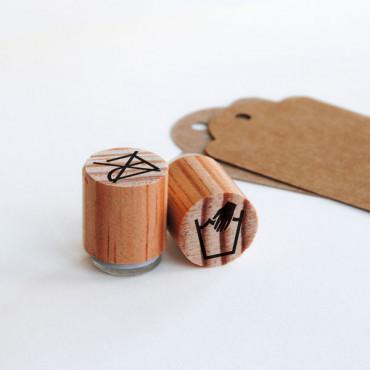 Mini sello no planchar y lavar a mano para etiquetas de ropa | biterswit