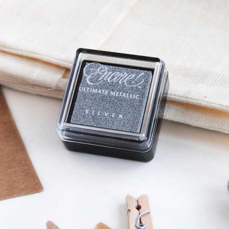 Mini tinta Plateada Encore Metallic Silver (papel)