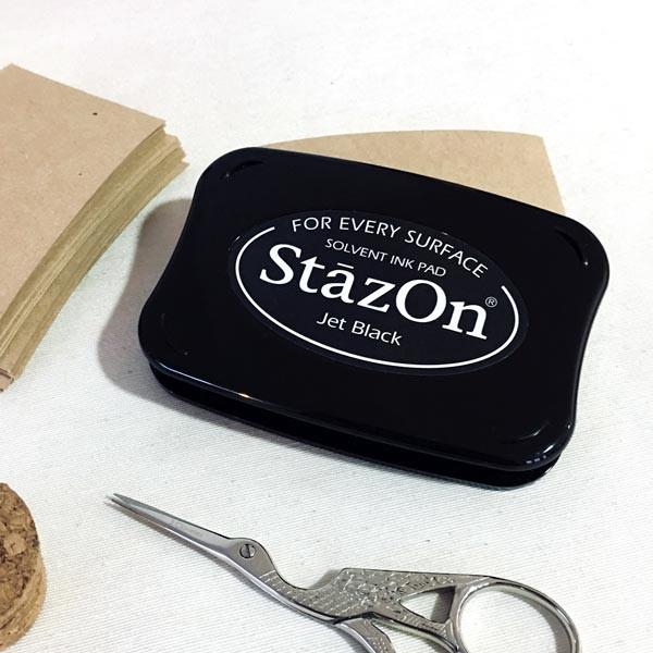 Tinta Stazon negra para vidrio y plástico