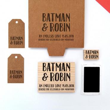 Un sello perfecto para personalizar los regalos de los invitados de vuestra boda.