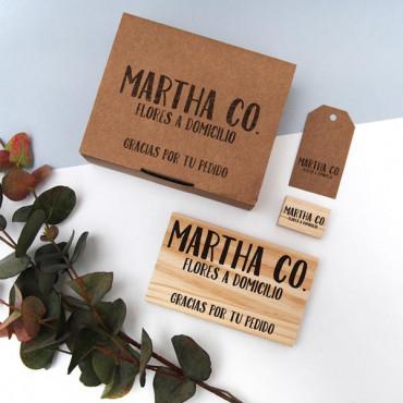 Sello personalizado perfecto para personalizar packagings, cajas y sobres de envío