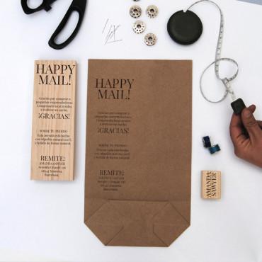 Perfecto para marcar bolsas de envío con mensajes personalizados.