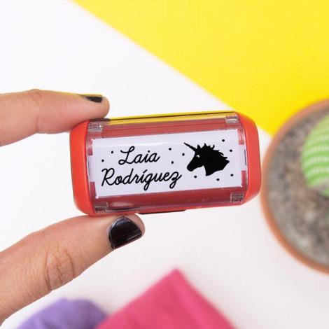 Sello automático para marcar ropa Unicornio