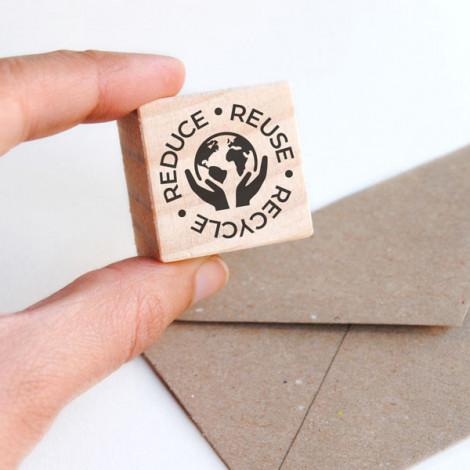 Sello Reduce Reuse Recycle (Varios Idiomas)