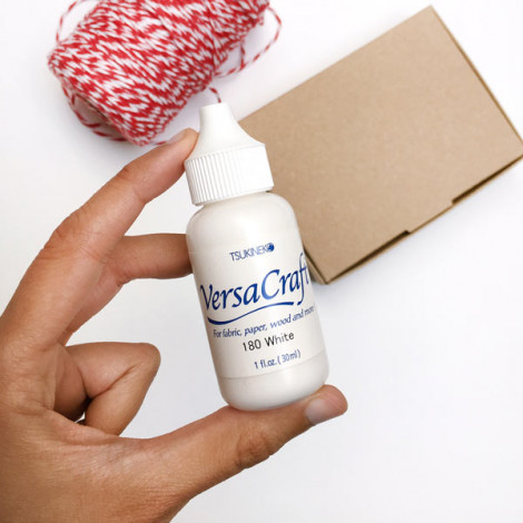 Botella tinta para recargar almohadilla VersaCraft blanca