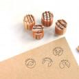 Mini sellos con iconos de Comida para estampar en marcasitios de boda