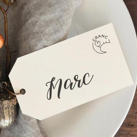 Mini segells Menú marca llocs casament (Català)