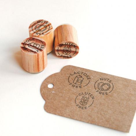 Mini sellos Alergias alimentarias (Inglés)