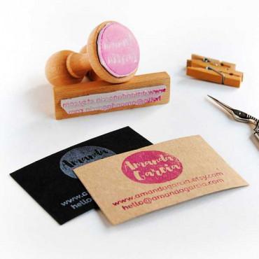 Tarjeta cartulina kraft ideal para tarjetas de visita DIY