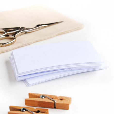 Tarjeta cartulina color blanco