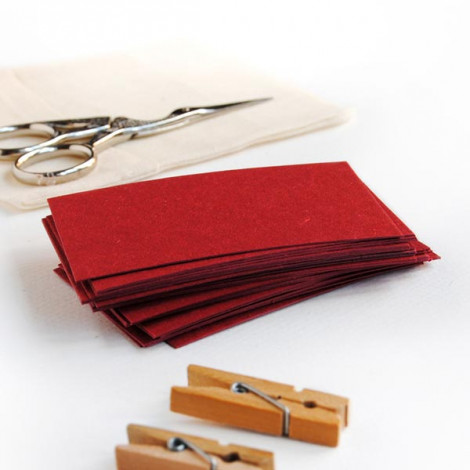 Tarjeta cartulina color rojo