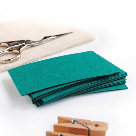 Tarjeta cartulina color verde turquesa