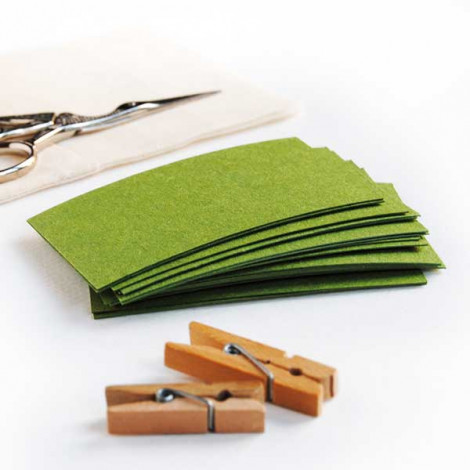 Tarjeta cartulina color verde claro