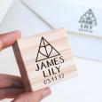 Sello personalizado boda Corazón para bodas frikis inspiradas en Harry Potter