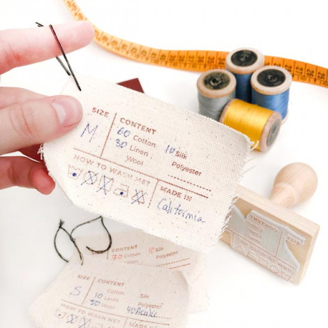 Sello Etiqueta composición ropa y textil