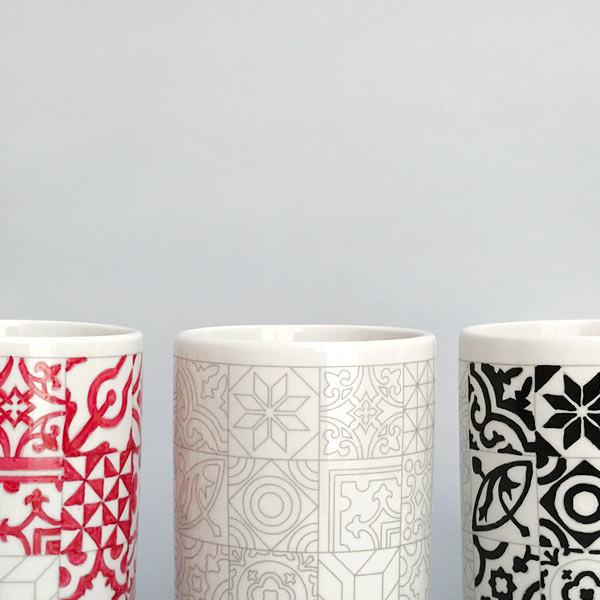 """Taza de cerámica mosaico """"Baldosas Hidráulicas"""""""