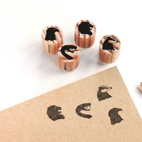 "Pack de 4 mini sellos ""Animales Mágicos"""