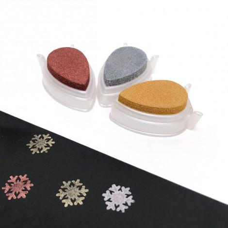 Pack 3 mini tintas Brilliance - Oro, plata, cobre (Papel)