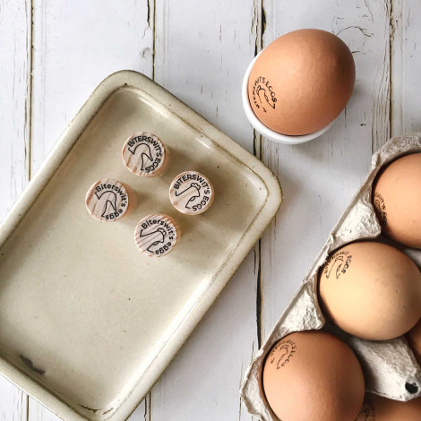 Sello Personalizado para Huevos Frescos
