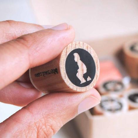 Mini sello Caganer