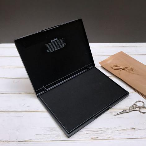 Almohadilla tinta negra grande 21x15 cm (papel)